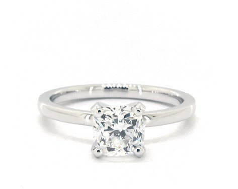 1.00 carat Cushion Modified cut Solitaire engagement ring IN 18K White Gold James Allen