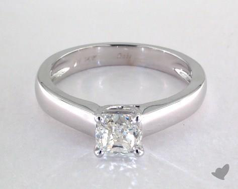 1.00 carat Cushion cut Solitaire engagement ring IN 14K White Gold James Allen