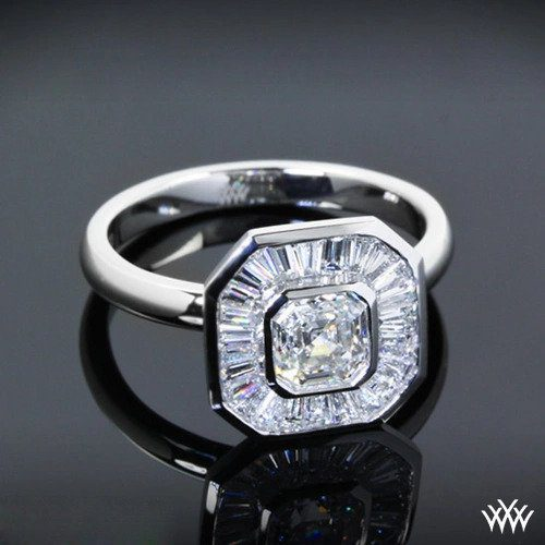 Custom Solitaire Engagement Ring White Flash