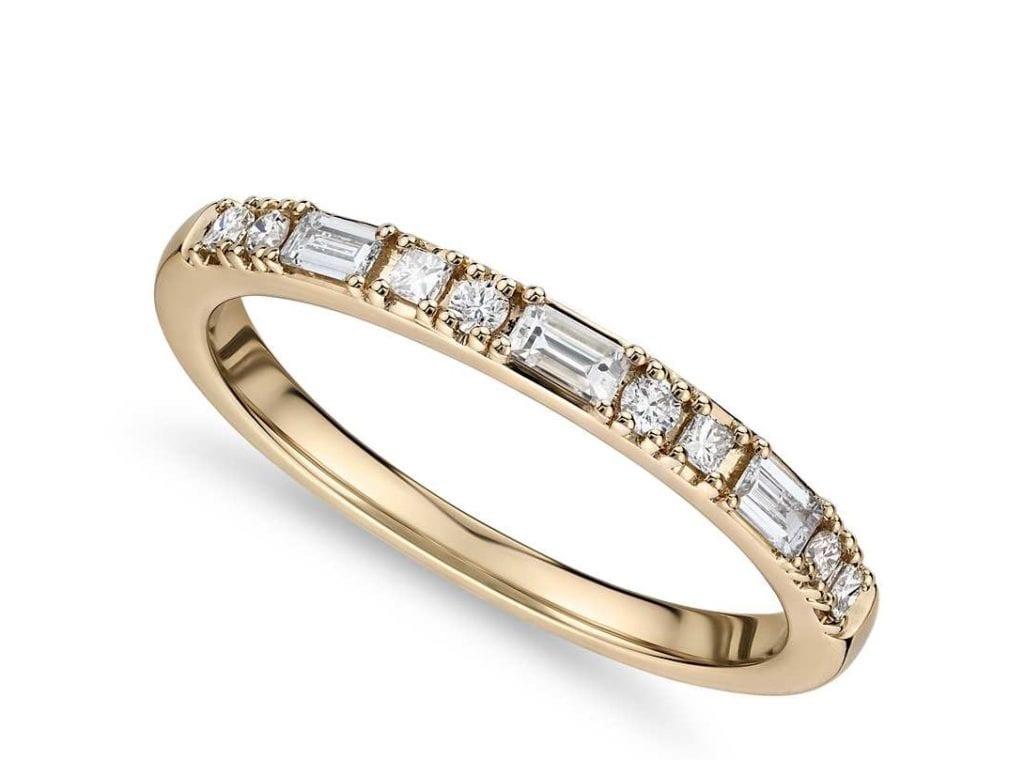 Dot Dash Diamond Ring