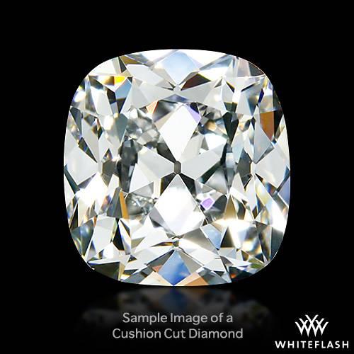 10.02 ct H VS1 Cushion Cut Loose Diamond White Flash