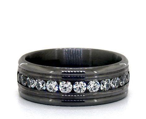 Tantalum 8mm Channel Set Diamond Comfort Fit Ring James Allen