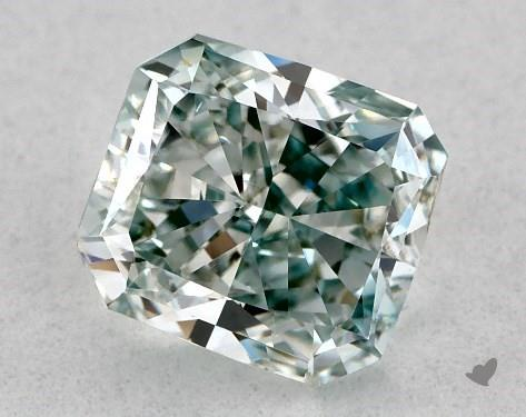 0.71 Carat radiant diamond Fancy Green VS1 Clarity James Allen