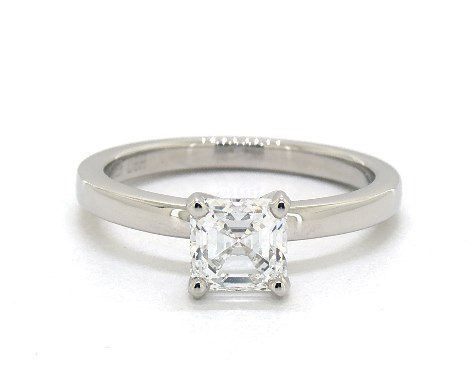 1.01 carat Asscher cut Solitaire engagement ring In Platinum James Allen