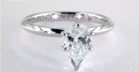 1.00 Carat Pear 14K White Gold Solitaire Engagement Ring from James Allen