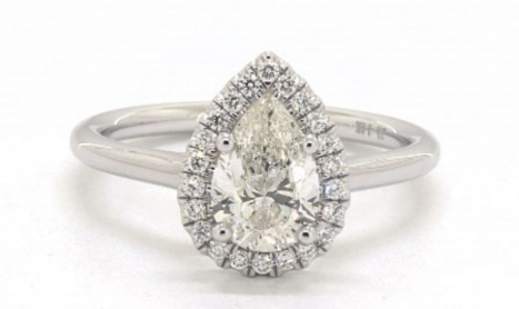 1.16 Carat Total Weight 14K White Gold Halo Engagement Ring James Allen