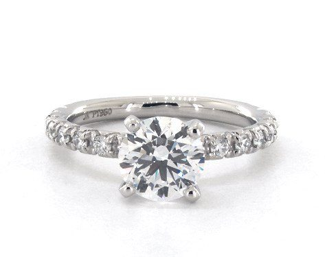 LLab-Created 1.14 carat Round cut Pave engagement ring IN Platinum James Allen