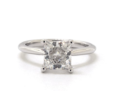 Lab-Created 1.69 carat Princess cut Solitaire engagement ring IN 18K White Gold James Allen