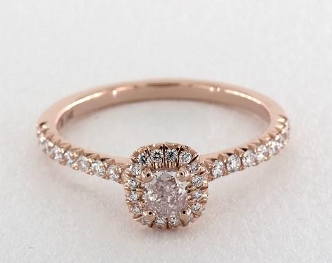 0.30 carat Cushion cut Halo engagement ring IN 14K Rose Gold  James Allen