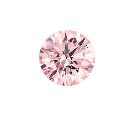 0.42-Carat Intense Pink Round Diamond Blue NIle