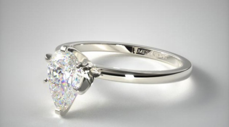 1.07ct Pear Solitaire Engagement Ring in 14K White Gold from James Allen