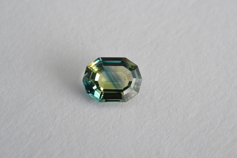 parti sapphire - light tone and weak saturation