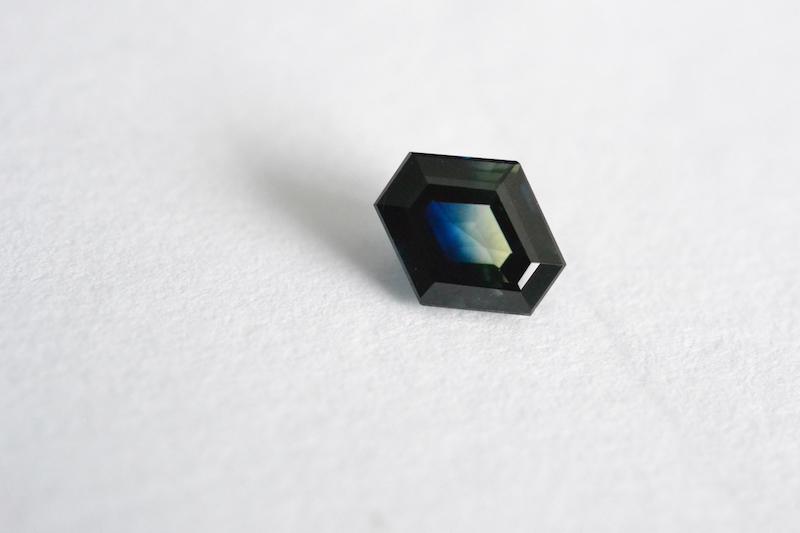 parti sapphire - dark tone, grayish saturation