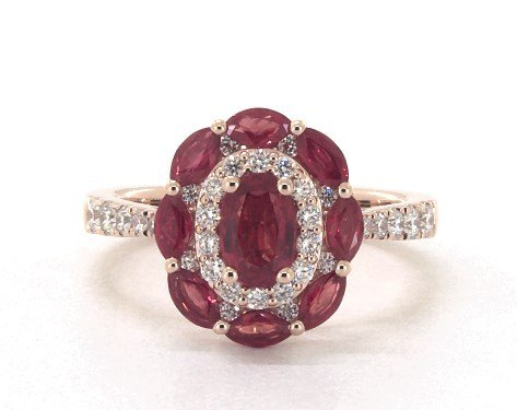 14K Rose Gold Imperial Ruby and Diamond Ring James Allen