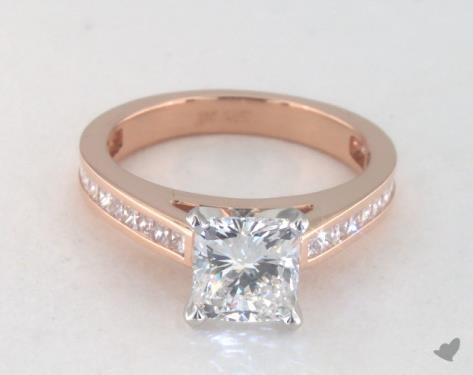 1.23 carat Cushion cut Channel Set engagement ring in 14K Rose Gold James Allen
