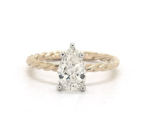 1.20 carat Pear shaped Solitaire engagement ring in 14K Yellow Gold James Allen