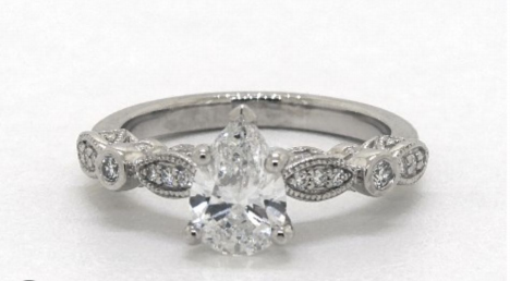 .90 Carat 14K White Gold Vintage Engagement Ring from James Allen