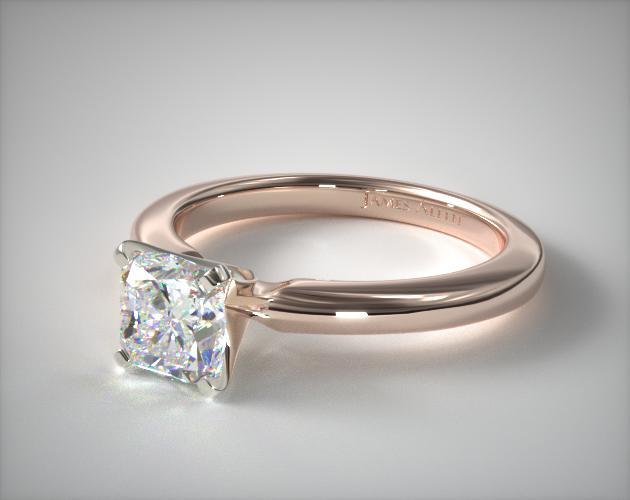 14K Rose Gold 2mm Comfort Fit Solitaire Engagement Ring James Allen