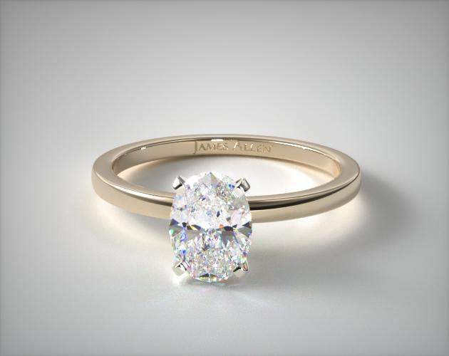 14K Yellow Gold 1.5mm Comfort Fit Engagement Ring James Allen