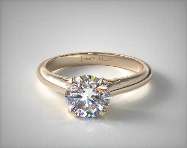 18K Yellow Gold Sleek Diamond Engagement Ring James Allen