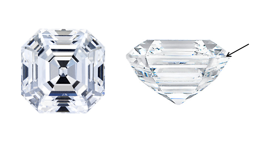 asscher cut blue nile