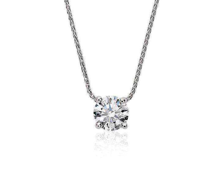 Blue Nile Signature Floating Diamond Solitaire Pendant in Platinum