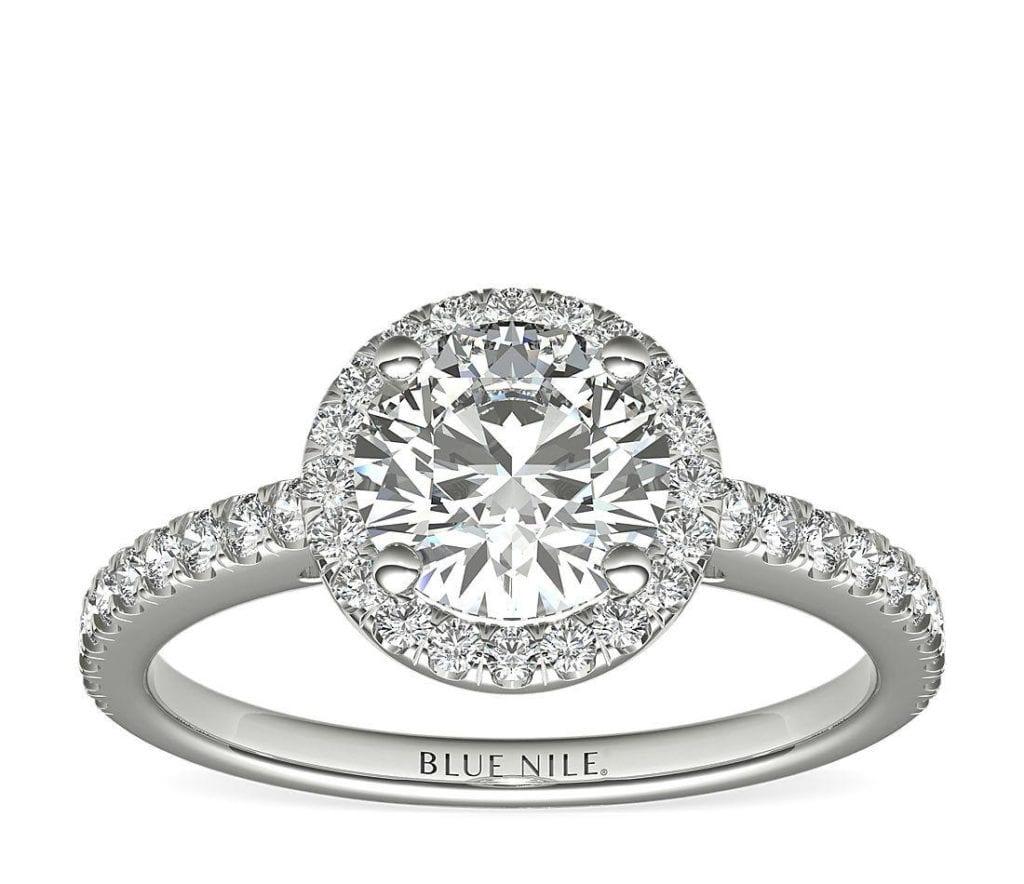 Classic Halo Diamond Engagement Ring Blue Nile