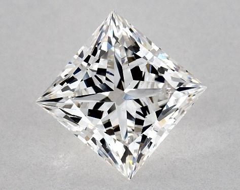 Lab-Created 1.57 Carat Princess Diamond F Color VS1 Clarity Ideal Cut James Allen
