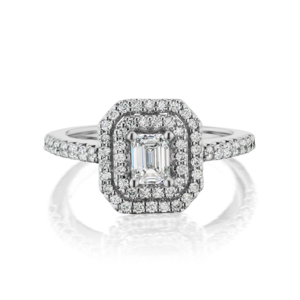 Regalia lab diamond ring Metal: 14kt White Gold with clarity