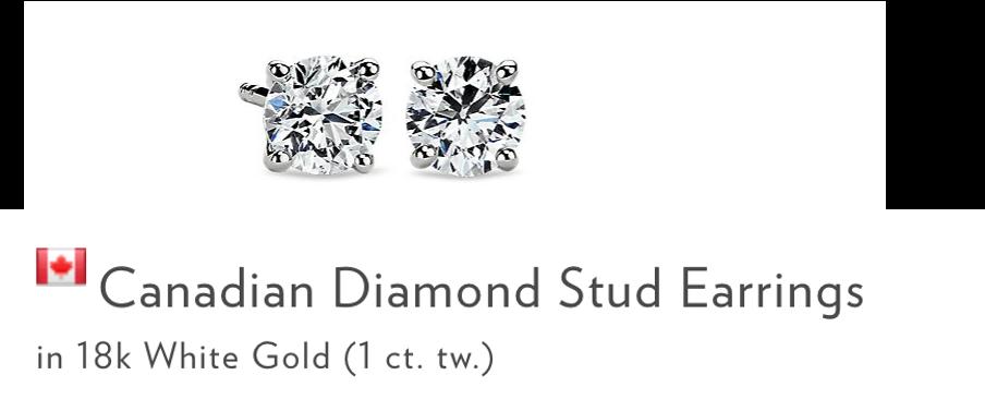 canadian diamond stud earings blue nile