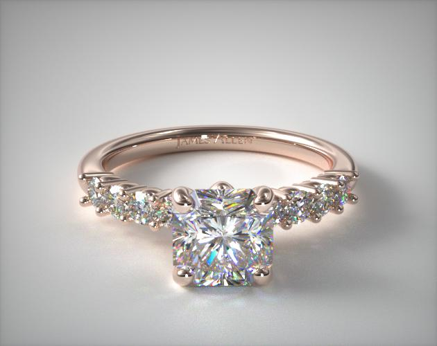 14K Rose Gold Prong Set Diamond Engagement Ring James Allen