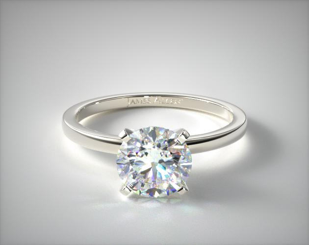 14K White Gold 1.5mm Comfort Fit Engagement Ring James Allen