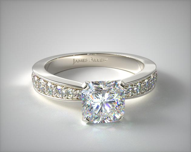 14K White Gold Perfect Pave Engagement Ring James Allen