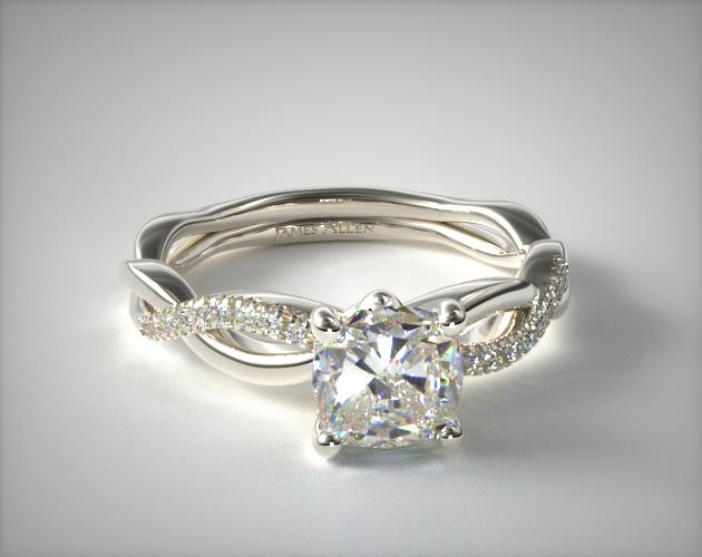 14K White Gold Solo Infinity Engagement Ring James Allen