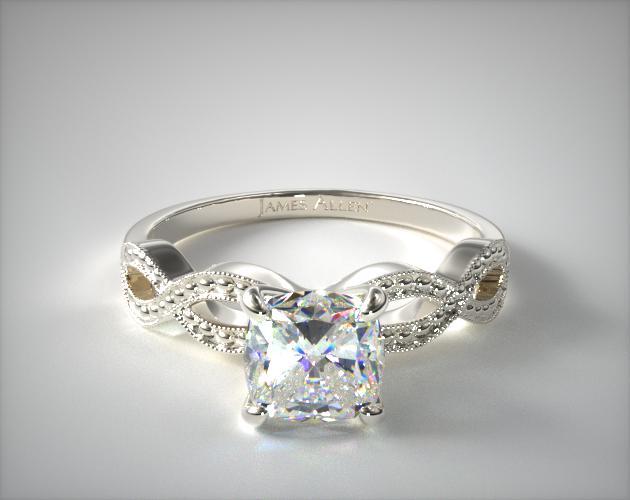 14K White Gold Vintage Infinity Engagement Ring James Allen