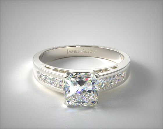 14K White Gold 0.42ct Channel Set Diamond Engagement Ring James Allen