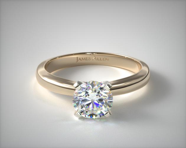 14K Yellow Gold 2.5mm Comfort Fit Solitaire Engagement Ring James Allen