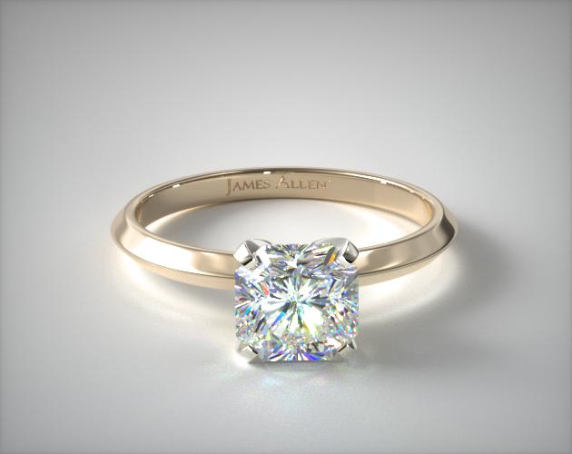14K Yellow Gold 2mm Knife Edge Solitaire Engagement Ring James Allen