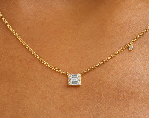 14K Yellow Gold Luxe Diamond Necklace James Allen