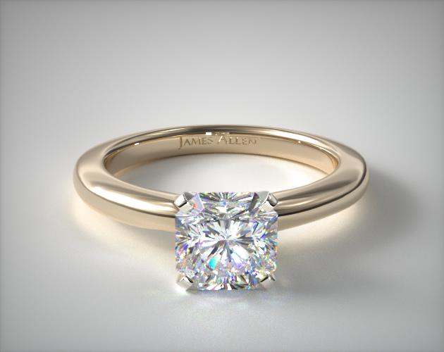18K Yellow Gold 2mm Comfort Fit Solitaire Engagement Ring James Allen