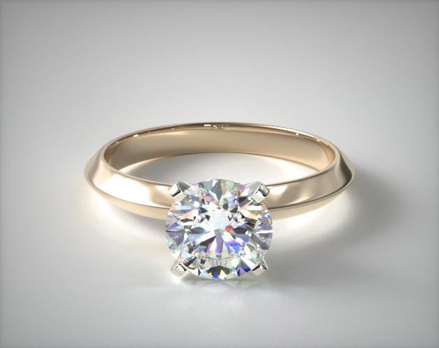 0.84 Carat E-VS2 Very Good Cut Round Diamond 2.5mm Knife Edge Solitaire Engagement Ring James Allen