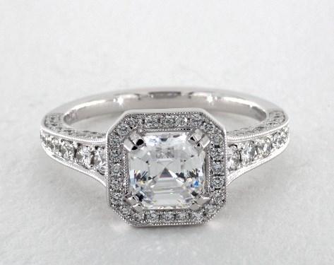 1.80 Carat E-VVS2 Asscher Cut Diamond Heather Engagement Ring By Jeff Cooper James Allen