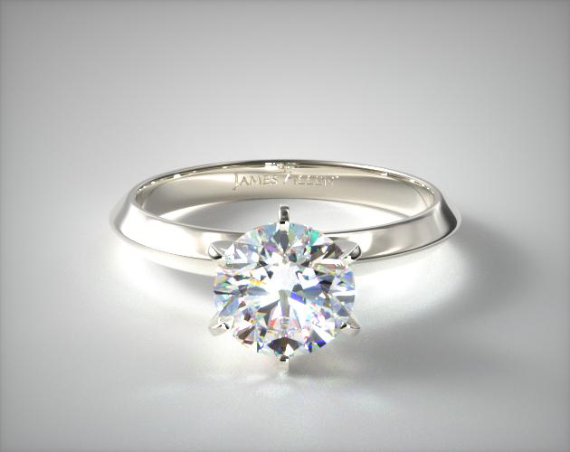 0.96 Carat F-VS1 Excellent Cut Round Diamond Presentation Solitaire (Six Prong) James Allen