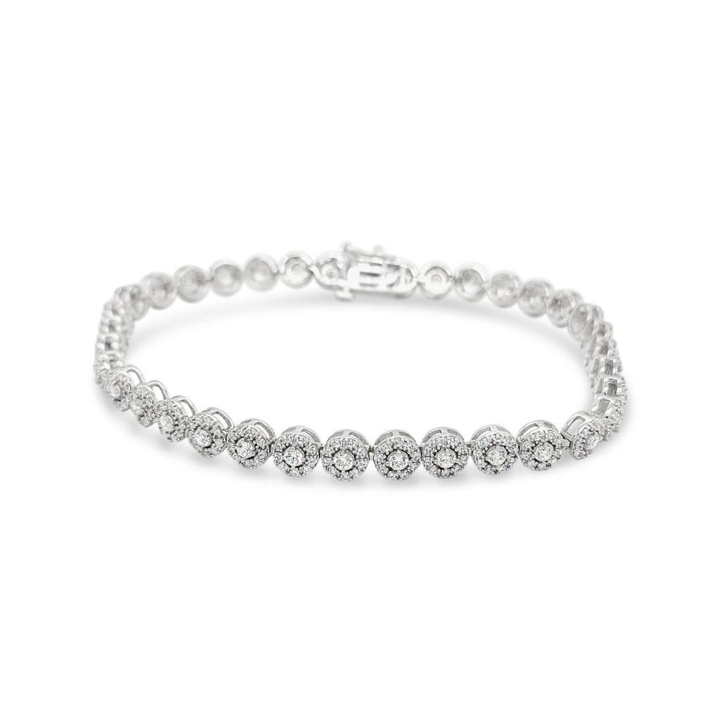 Fervor Lab Diamond Bracelet Metal: 14kt White Gold with clarity