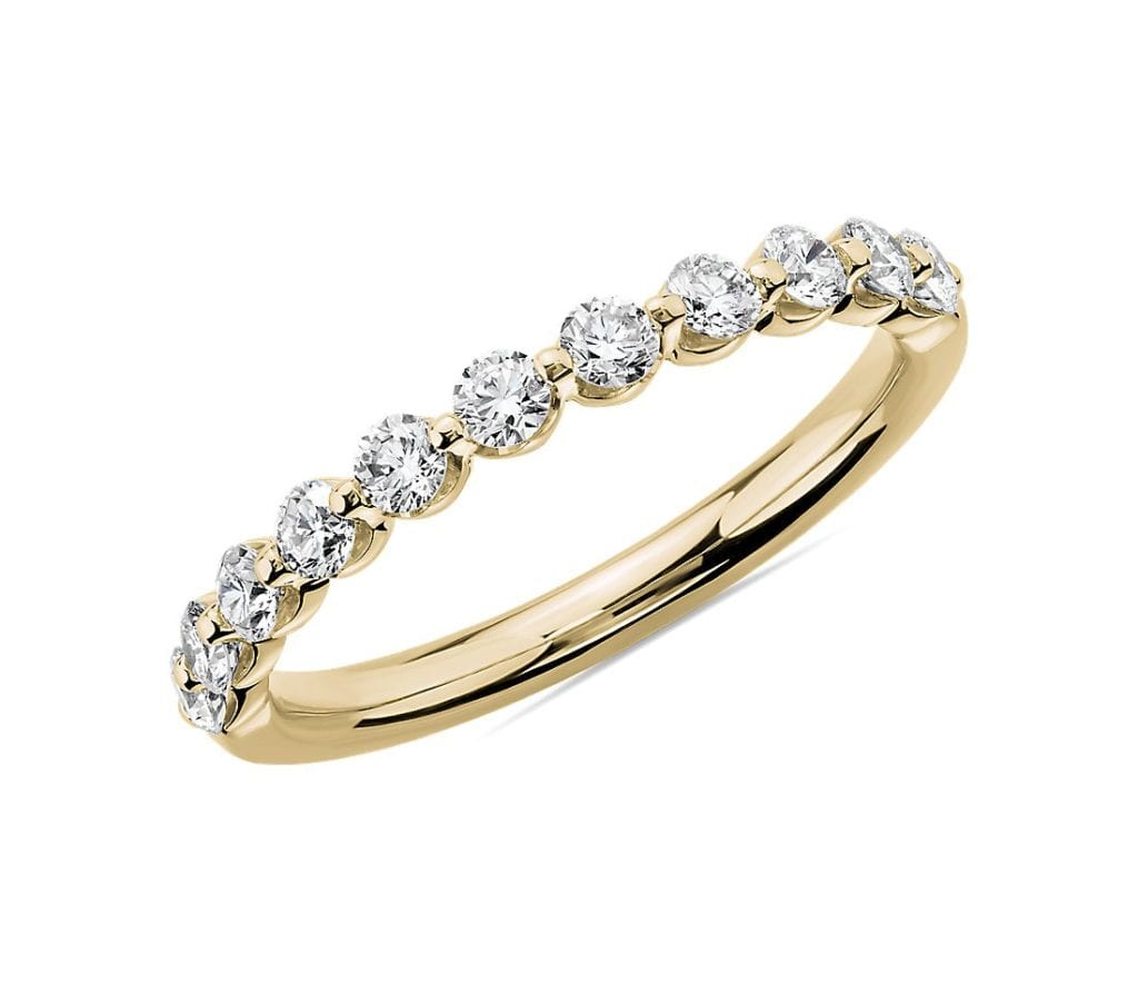 Floating Diamond Wedding Ring in 14k Yellow Gold (1/2 ct. tw.) Blue Nile