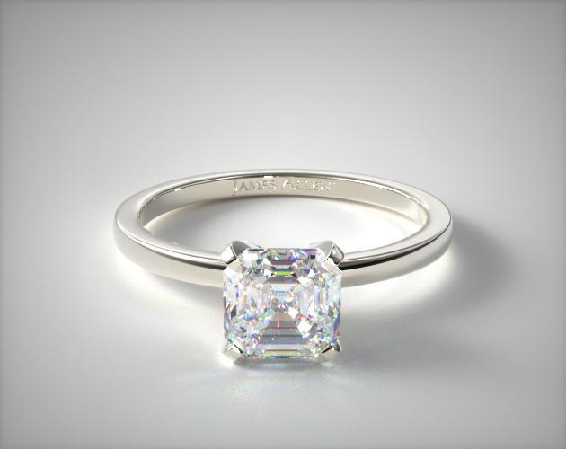 1.03 Carat G-VS1 Asscher Cut Diamond 1.5mm Comfort Fit Engagement Ring James Allen