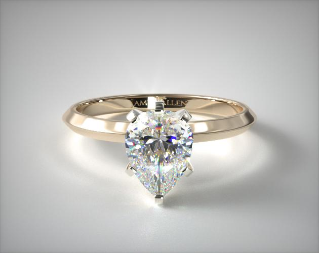 1.200 Carat H-SI1 Pear Shaped Diamond 2mm Knife Edge Solitaire Engagement Ring James Allen