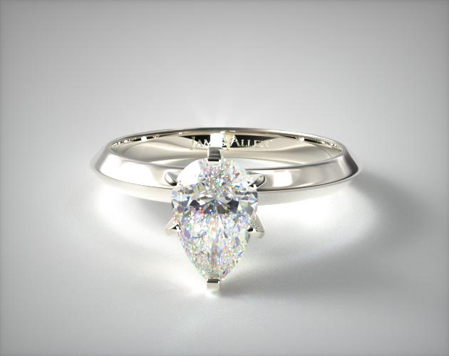 1.00.00 Carat H-SI2 Pear Shaped Diamond Presentation Solitaire (Six Prong) James Allen