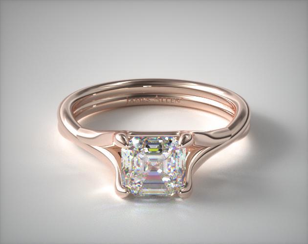 0.71 Carat J-VS1 Asscher Cut Diamond Twisted Shank Contemporary Solitaire James Allen