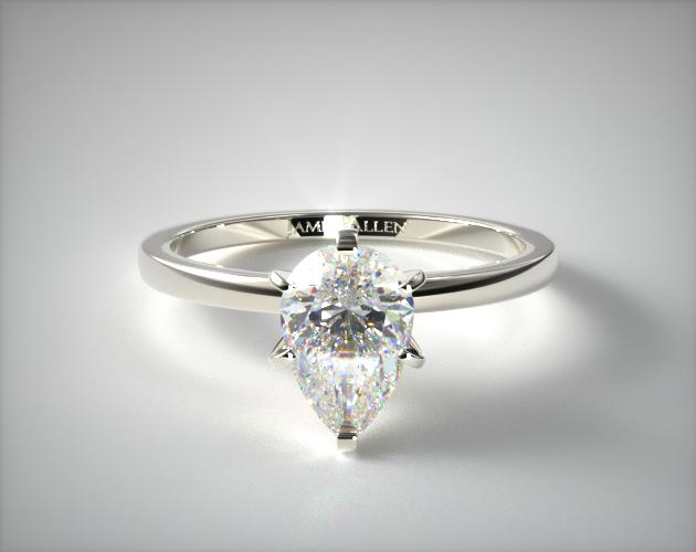 Lab-Created 1.56 Carat F-VVS2 Pear Shaped Diamond 1.5mm Comfort Fit Engagement Ring James Allen